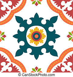 Seamless colourful ornament tiles - Beautiful seamless...