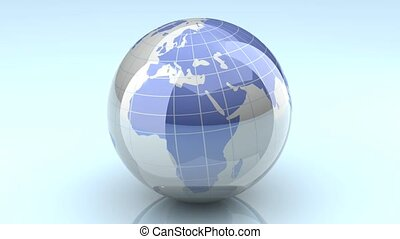 Spinning Globe - Loopable - A loopable turning globe 3D...