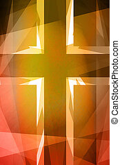 Red and orange religious cross background