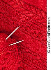 Detail of woven handicraft knit woolen design texture and...