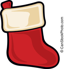 Christmas Stocking - Vector Illustration of a cartoon...