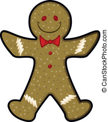 Gingerbread Man - Vector illustration of a holiday...