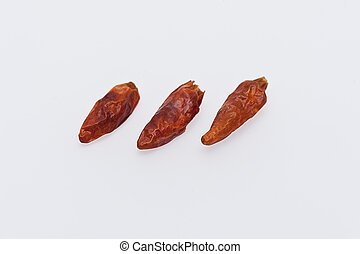 3 Chilis isolated
