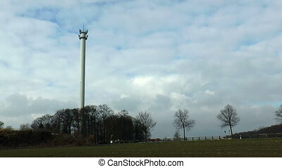 Controlled demolition radio tower - Controlled blasting and...