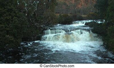 waterfall in craddle mountain - beautiful waterfall in...