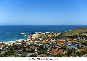 Camps bay, Cape town - Camps bay, Atlantic ocean, Cape town,...