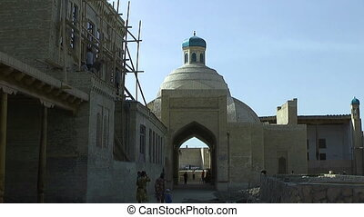Historic medieval gate bukhara - Historic medieval gate to...