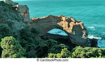 Scenic natural arc great ocean road - Scenic natural arc at...