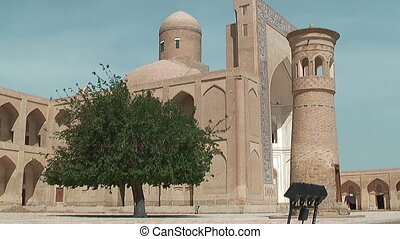 Mosque and Minaret at Chor Bakr Complex in Sumitan near...