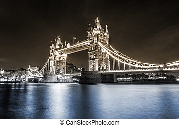 London Tower Bridge dual toned - Tower Bridge is a combined...
