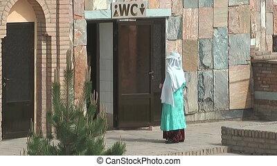 uzbekistan lavatory attendant - lavatory attendant waiting...