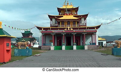 main temple at Ivolginsky Datsan - main buddhist temple at...