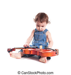 baby and violin