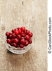 Cherry in a bowl - Heap of frech cherry with removed sprigs...