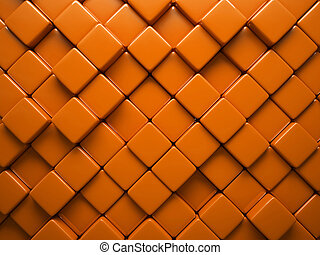Abstract pattern of  rhombus orange pieces illustration
