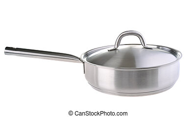 frying pan - stainless frying pan with stainless cover...