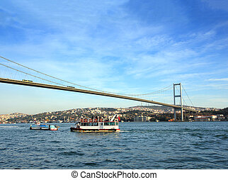 bridge over the Bosphorus Strait in Istanbul Turkey
