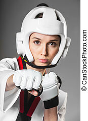 Woman in sports clothing. closeup - Woman in sports clothing...