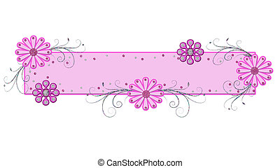 Pink Frilly Banner - Very girly pink frilly banner with...
