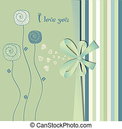 i love you - valentine card
