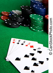 Two Pair - A poker hand with two pair