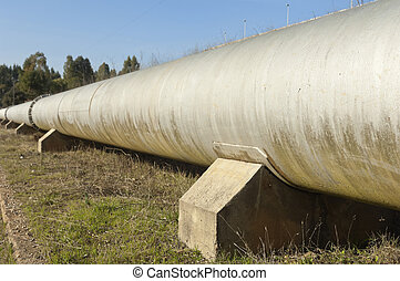 Water pipeline - Steel water pipeline in Vigia dam supplying...