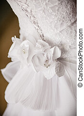 back of bride in wedding dress - Image of back of bride in...