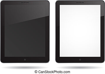 tablet PC - two vector tablet PC on white background