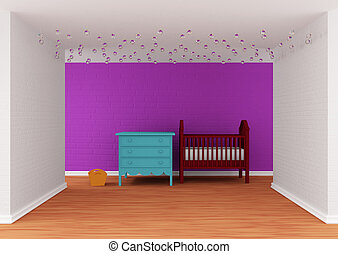 Baby bedroom with a crib