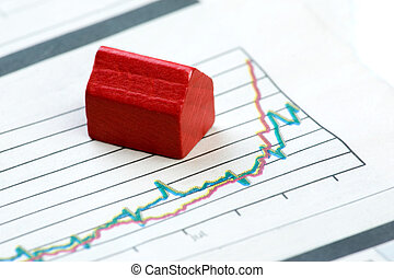 Upwards Housing Graph - A real estate concept with improving...
