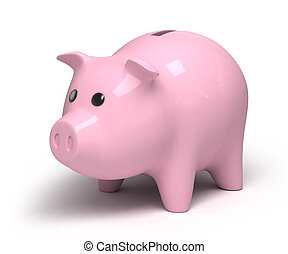 Piggy bank, 3d image