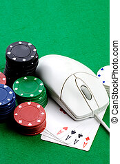 Online Gambling Concept - Online gaming and gambling...