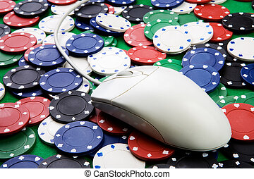 Online Gambling - Online gaming and gambling concept