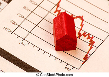 Housing Market - Housing market concept image with graph and...