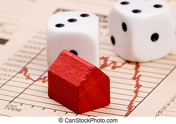 Housing Market Risk - Housing market concept image with...