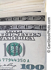 dollars close up - close up photo of 100 dollar bills