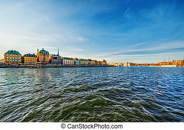 Stockholm Old Town from the sea