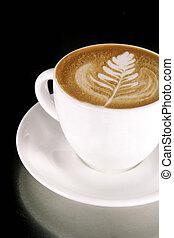 Latte Art on a Cappucinno