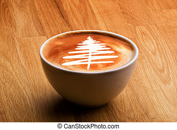 Christmas Gourmet Coffee - A cappuccino with a christmas...