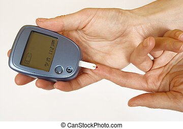self-test,  diabetes