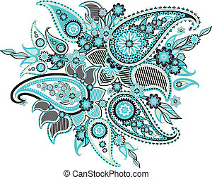 Paisley - pattern based on traditional Asian elements...