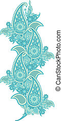Paisley - pattern border based on traditional Asian elements...