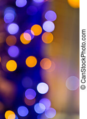 Photo of blurred Christmas lights at night