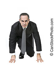 Businessman on white background - Businessman in a suit...