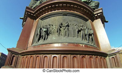 Bas-relief at the monument to Emperor Nicholas I in St...