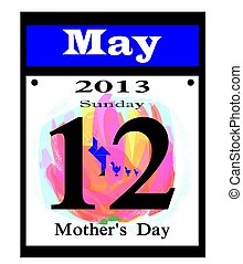 2013 mother's day calendar icon