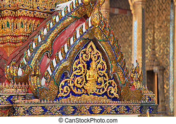 grand palace temple detail bangkok thailand