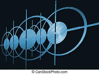 blaues, Abstrakt, Schwarz, hintergrund