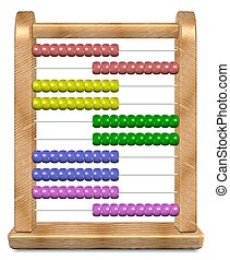 Abacus - 3d illustration of a shiny wooden abacus