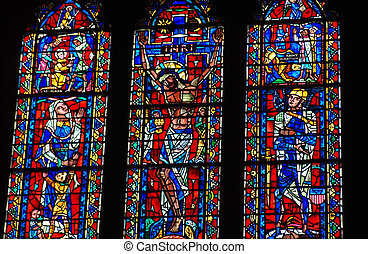 Stained Glass Window from National Cathedral - WASHINGTON DC...
